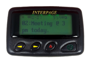 Enterprise 2/4 Line Button Programmable Alphanumeric Pager