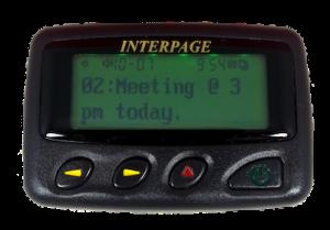 Enterprise 2/4 Line Button Programmable Alphanumeric Pager
